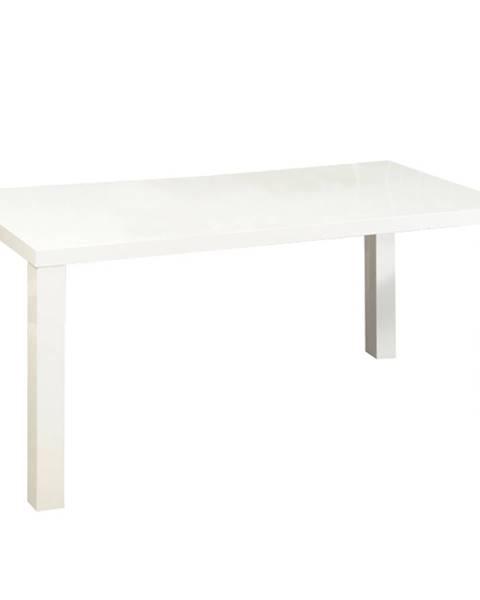 Tempo Kondela Jedálenský stôl biela vysoký lesk HG ASPER  NEW TYP 2