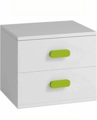 Nočný stolík bez úchytiek biela SVEND TYP 22