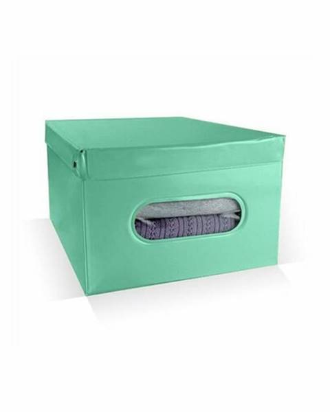 Compactor Compactor Skladací úložný box PVC so zipsom Compactor Nordic 50 x 38.5 x 24 cm, zelený