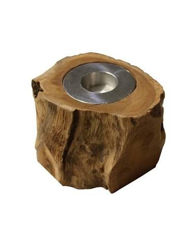 Svietnik z teakového dreva HSM collection Antique, 10cm