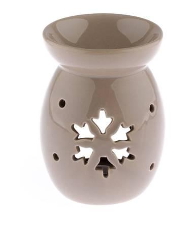 Svetlohnedá keramická aromalampa s vločkou Dakls