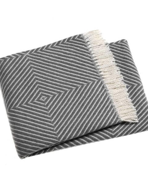 Euromant Sivý pléd s podielom bavlny Euromant Tebas, 140 × 160 cm