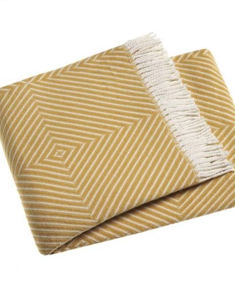 Euromant Žltý pléd s podielom bavlny Euromant Tebas, 140×180 cm