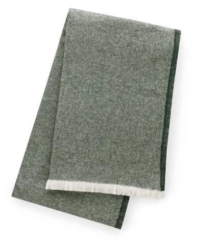Zelený pléd s podielom bavlny Euromant Linen, 140 x 160 cm