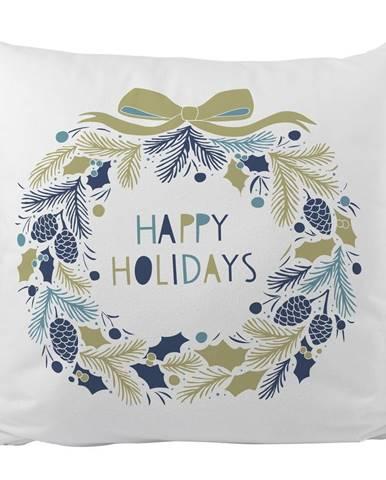 Vankúš s vianočným motívom Butter Kings Holiday Wreath, 45 x 45 cm