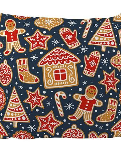 Vankúš s vianočným motívom Butter Kings Mr. Gingerbread, 45 x 45 cm