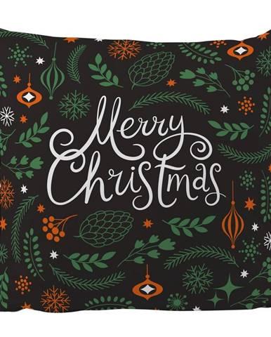 Vankúš s vianočným motívom Butter Kings Very Merry, 45 x 45 cm