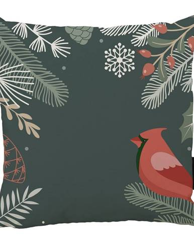 Vianočný vankúš s bavlnenou obliečkou Butter Kings Frosted Branches, 45 x 45 cm