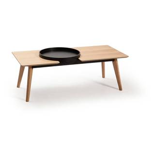 Hnedý konferenčný stolík s nohami z dubového dreva Marckeric India