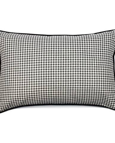 Čierno-biela obliečka na vankúš WeLoveBeds Check, 40 × 60 cm