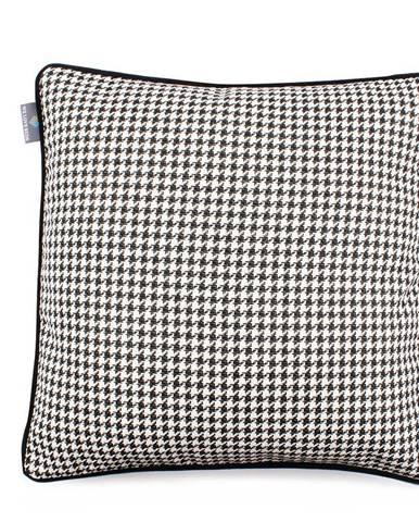 Čierno-biela obliečka na vankúš WeLoveBeds Check, 45 × 45 cm