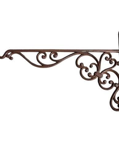Nástenná liatinová konzola so závesom Esschert Design Voluta, výška 24,7 cm