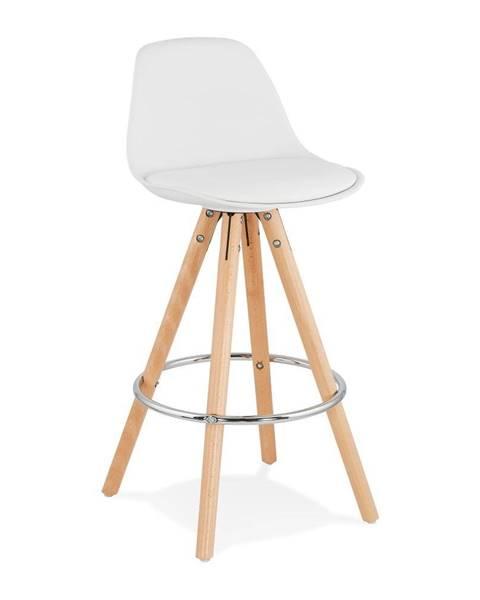 Kokoon Biela barová stolička Kokoon Anau, výška sedu 64 cm