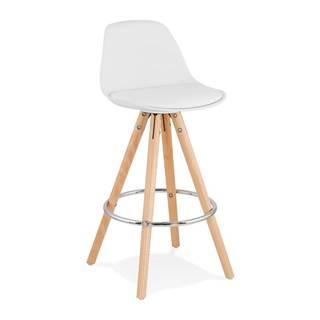 Biela barová stolička Kokoon Anau, výška sedu 64 cm
