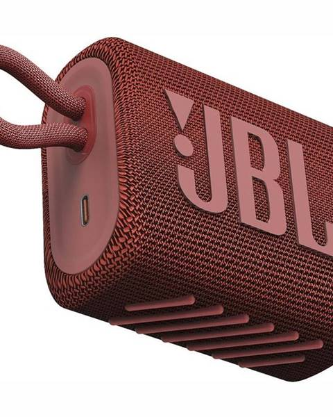 JBL Prenosný reproduktor JBL GO3 červen