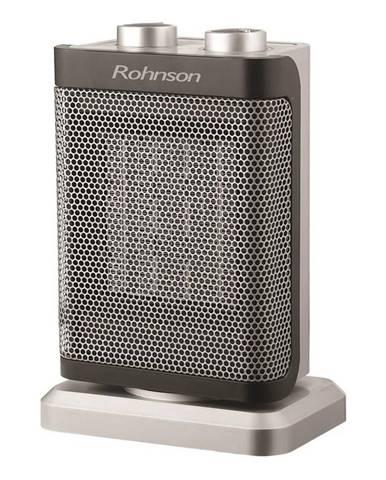 Teplovzdušný ventilátor Rohnson R-8063 čierny/strieborn