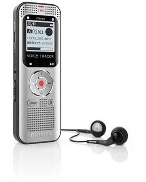 Philips Diktafón Philips DVT2000 čierny/sivý