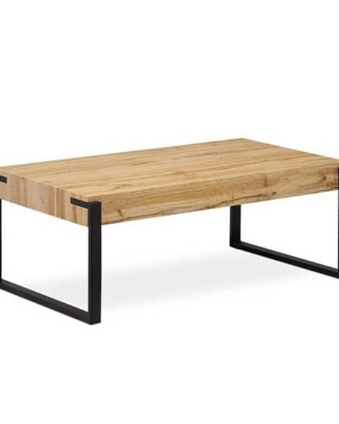 Sconto Konferenčný stolík CARLITO dub divoký/čierna
