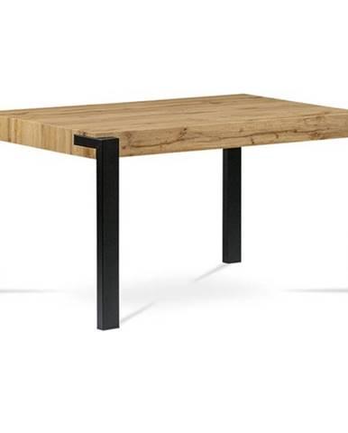 Jedálenský stôl CARLO dub divoký/čierna