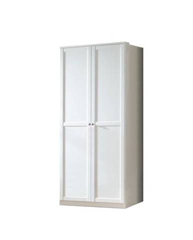 Šatníková skriňa VANNES biela, 2-dverová