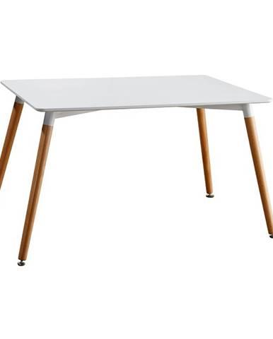 Jedálenský stôl biela/buk DIDIER 4 NEW
