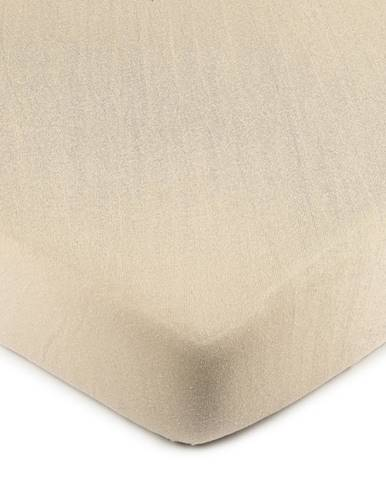 4Home Jersey prestieradlo béžová, 60 x 120 cm
