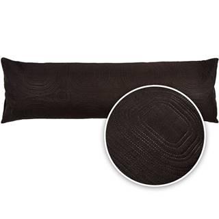 4Home Obliečka na relaxačný vankúš Náhradný manžel Doubleface čierna, 45 x 120 cm