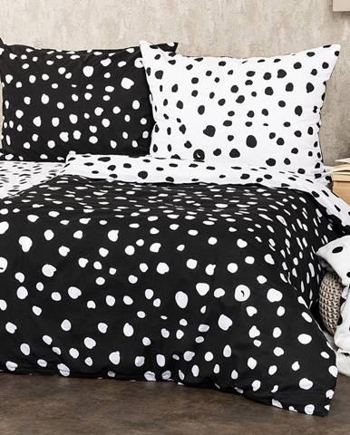 4Home Bavlnené obliečky Dalmatín čiernobiela, 140 x 220 cm, 70 x 90 cm