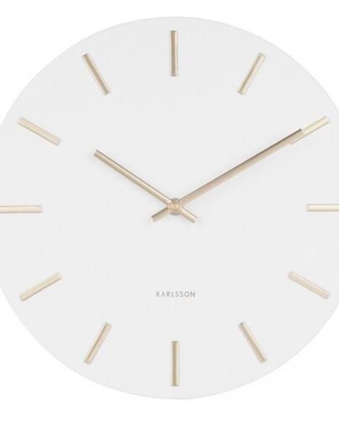 Karlsson Karlsson 5821WH Dizajnové nástenné hodiny, pr. 30 cm