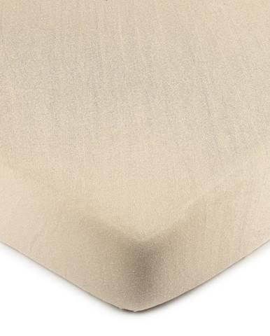 4Home Jersey prestieradlo béžová, 70 x 140 cm