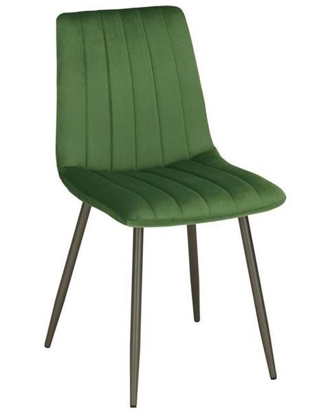Möbelix Stolička Lisa Zelený Zamat