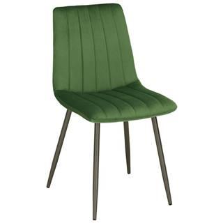 Stolička Lisa Zelený Zamat