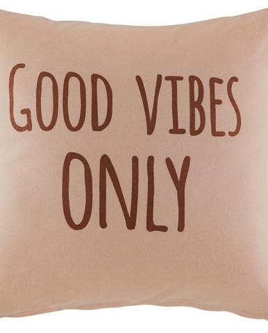 Dekoračný Vankúš Good Vibes Only,45/45cm,ružová