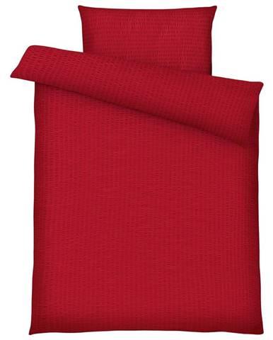 Posteľná Bielizeň Brigitte, 140/200cm, Červená