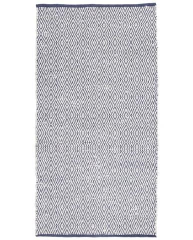 Ručné Tkaný Koberec Carmen 2, 80/150cm, Tm.modrá