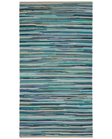 Ručné Tkaný koberec Verona 1, 60/120cm, Modrá