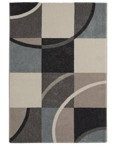 Tkaný koberec Palermo 1, 80/150cm, Modrá