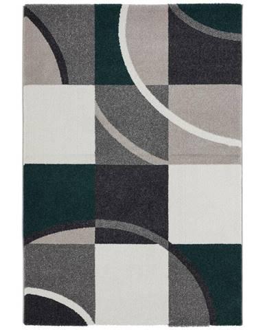 Tkaný koberec Palermo 3, 160/230cm, Zelená
