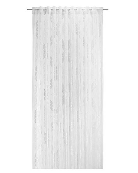 Möbelix Záves S Pútkami Ornela, 140/245cm, Biela
