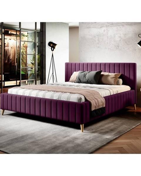 Sconto Posteľ SAGA fialová, 180x200 cm