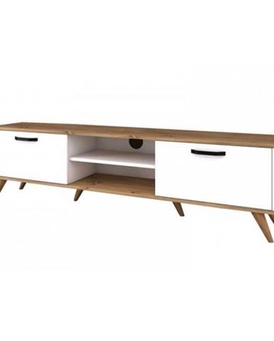 TV stolík AVA biela/orech