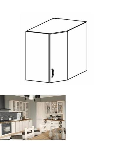 Horná rohová skrinka biela/sosna nordická ROYAL G60N