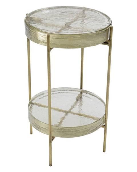 Kare Design Odkladací stolík v zlatej farbe Kare Design Ice Double, ø 30 cm