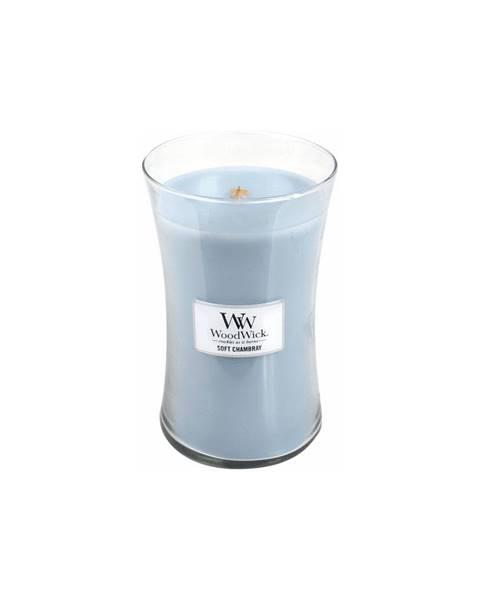WoodWick Sviečka s vôňou čistej bielizne, jazmínu a ruže WoodWick Čistá bielizeň, 110 hodín horenia