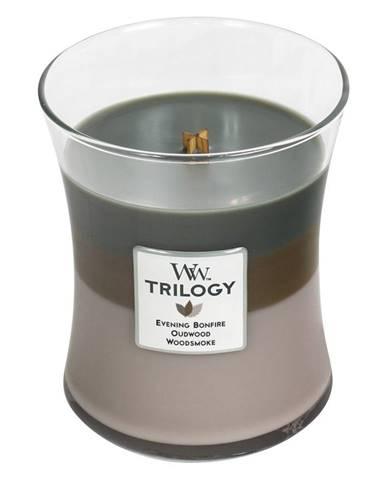 Sviečka s vôňou cédrového dreva WoodWick Útulný zrub, 55 hodín horenia