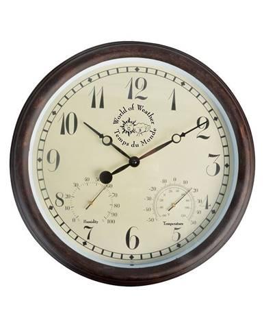 Vonkajšie nástenné hodiny s arabskými číslicami a teplomerom Ego Dekor Minute