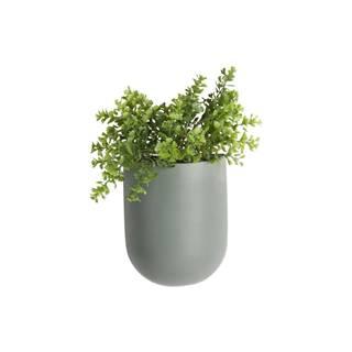 Matne zelený nástenný keramický kvetináč PT LIVING Oval