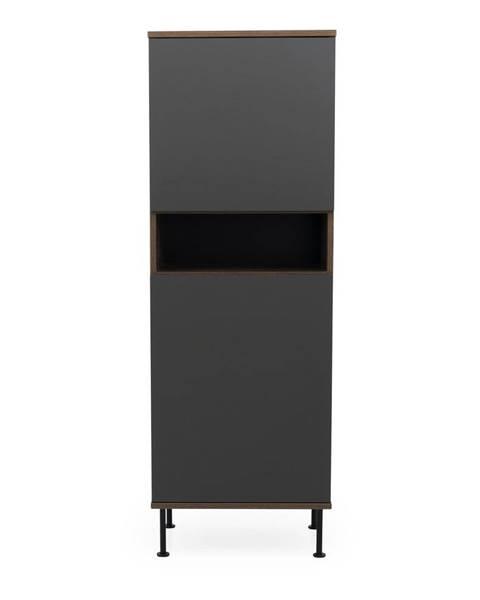 Tenzo Antracitovosivá skriňa Tenzo Daxx, 56 x 161 cm