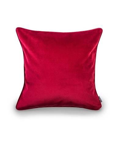 Červená obliečka na vankúš WeLoveBeds Elegant Burgundy, 50 × 50 cm