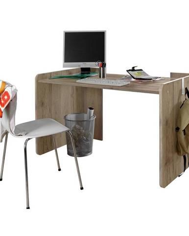 Písací Stôl Young Dekor Dub San Remo/biela